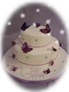 2 tier christening butterflies
