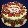 Strawberry topped fresh cream 8""