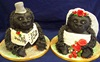 gorillas bride and groom cake